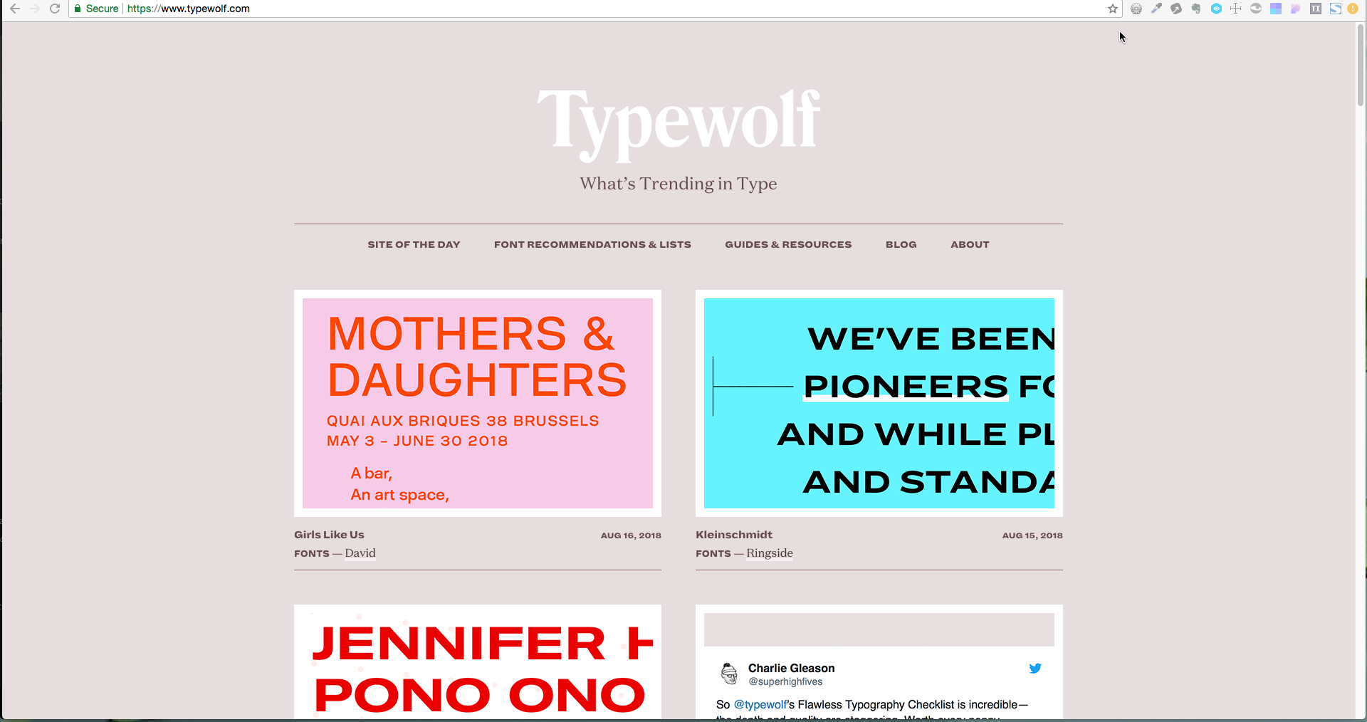 Typography – what's trending in type at Typewolf